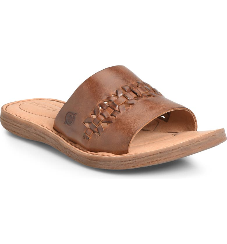 BØRN St. Francis Slide Sandal, Main, color, TAN LEATHER