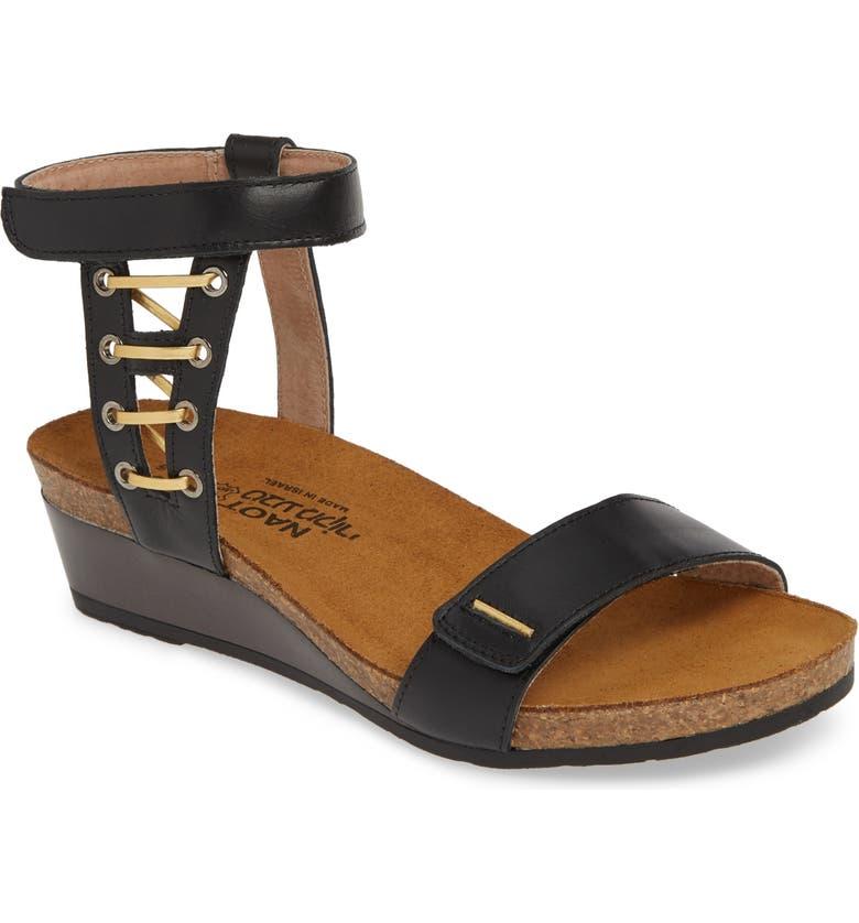 NAOT Wizard Sandal, Main, color, BLACK RAVEN/ GOLD