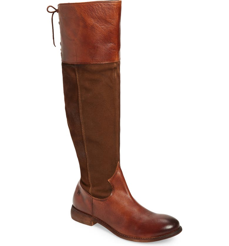 ROAN Natty Knee High Boot, Main, color, TAN BURNISHED LEATHER