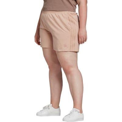 Plus Size Adidas Originals 3-Stripes Shorts, Beige