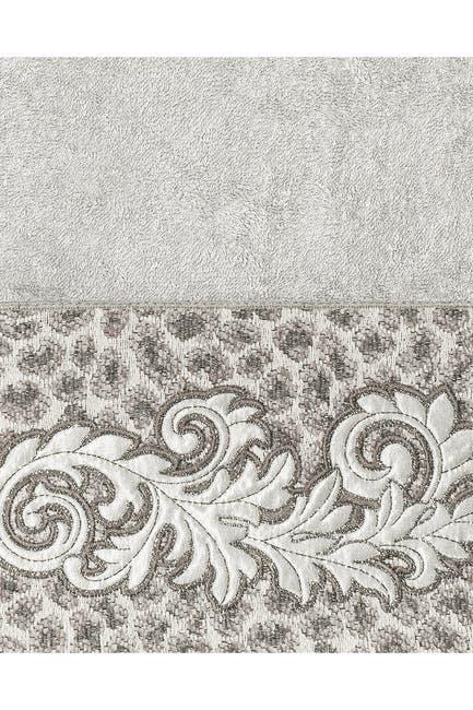 Image of LINUM HOME April Embellished Bath Towel - Light Gray
