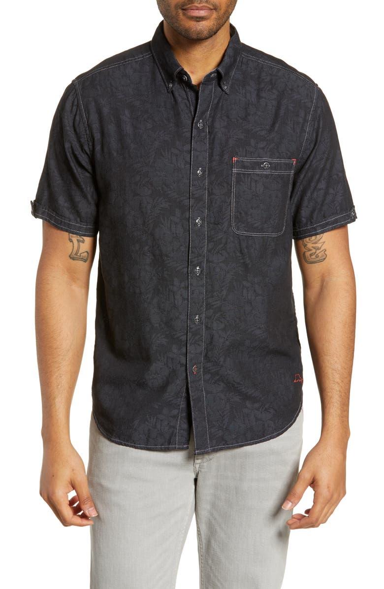 TOMMY BAHAMA Moana Fronds Woven Shirt, Main, color, 001