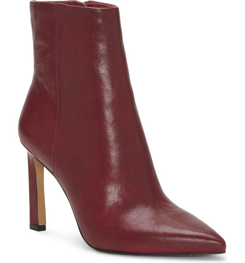 VINCE CAMUTO Sashala Pointed Toe Bootie, Main, color, BEAUJOLAIS