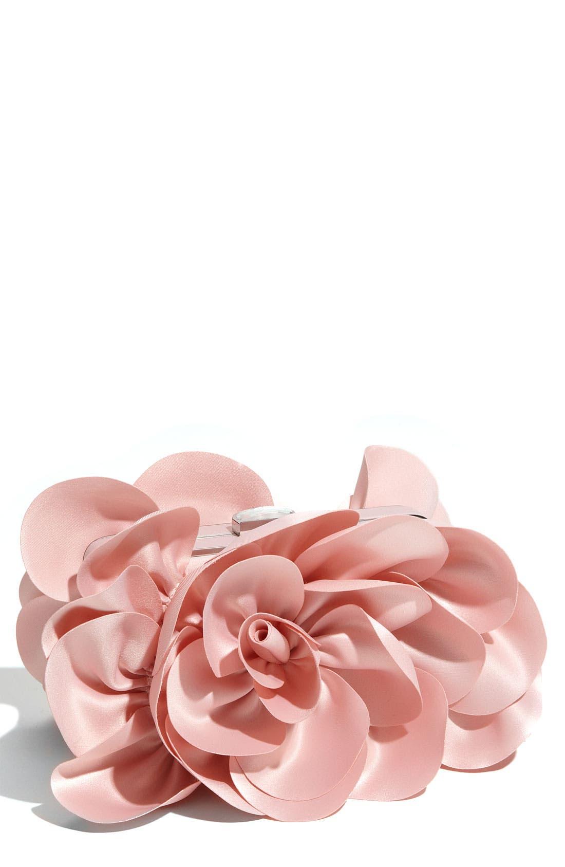 ,                             'Rose' Satin Box Clutch,                             Main thumbnail 16, color,                             650