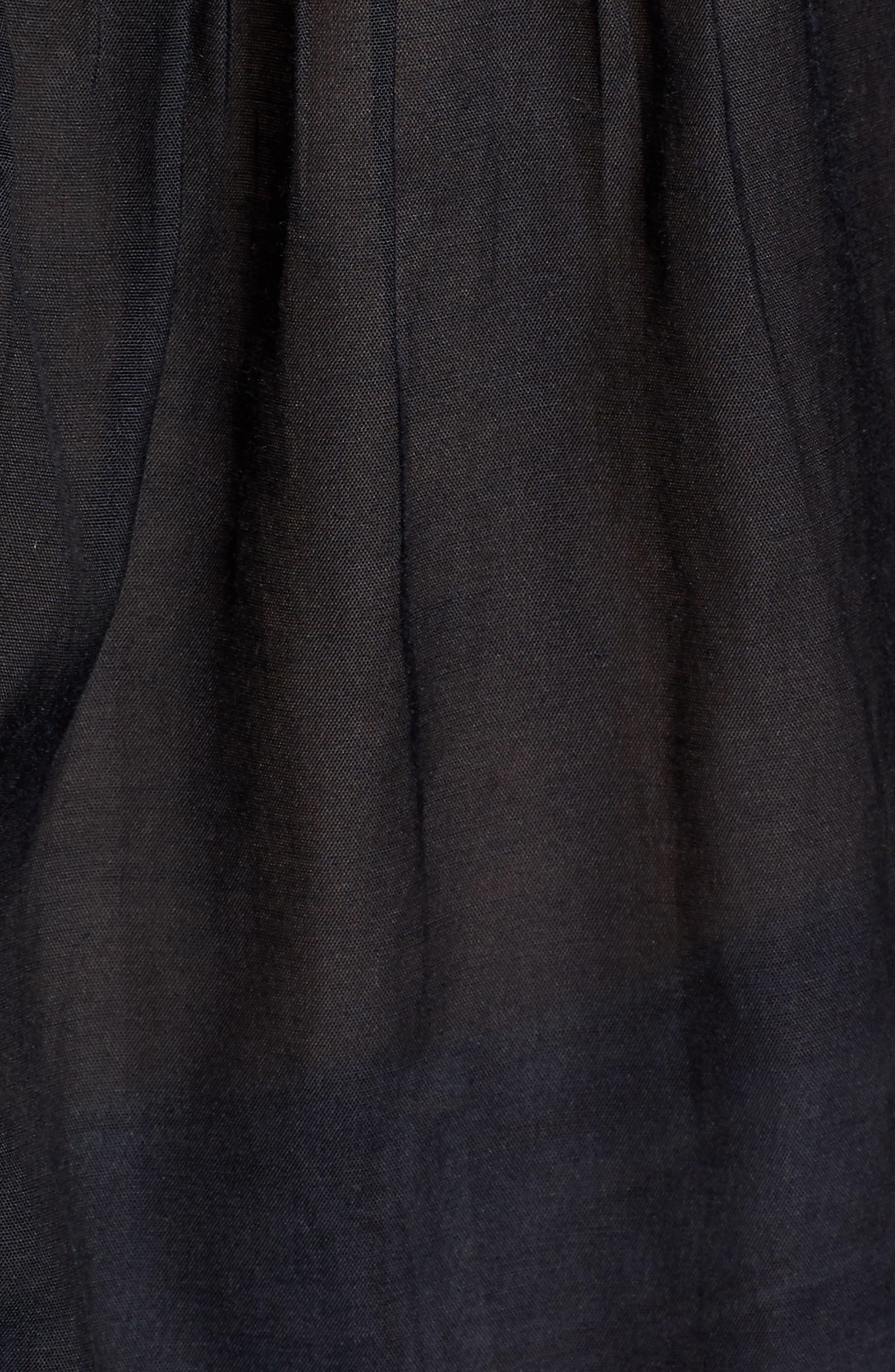 ,                             Lace Inset Sleeveless Top,                             Alternate thumbnail 5, color,                             BLACK