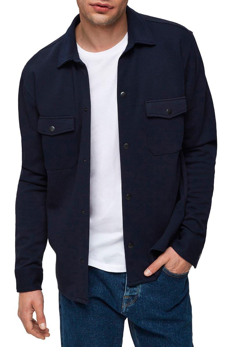 SELECTED HOMME Jack Sweatshirt Jacket, Main, color, SKY CAPTAIN