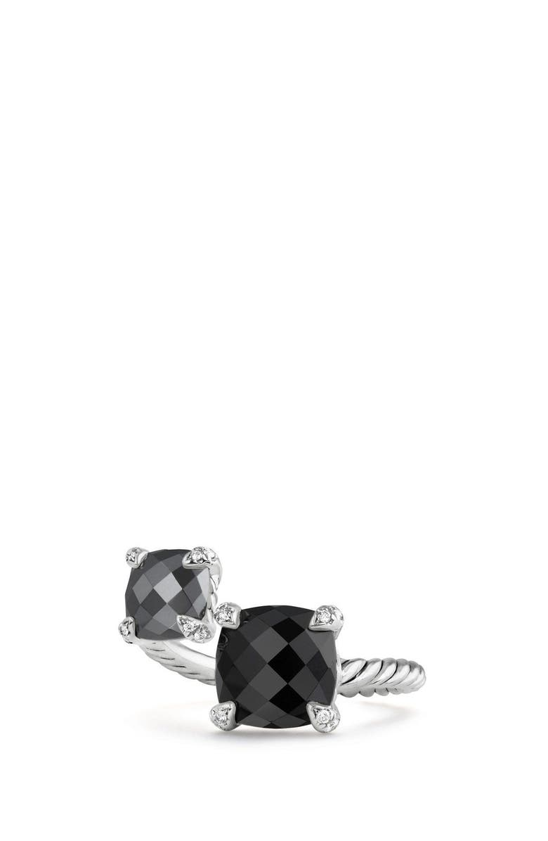 DAVID YURMAN Châtelaine Bypass Ring with Diamonds, Main, color, BLACK ONYX