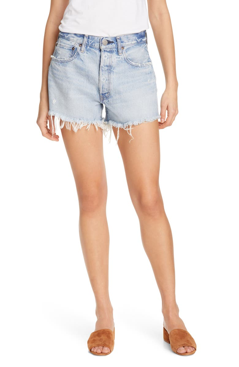 MOUSSY VINTAGE Mathews Denim Shorts, Main, color, 400