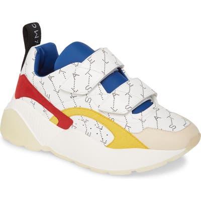Stella Mccartney Eclypse Hook-And-Loop Sneaker, White