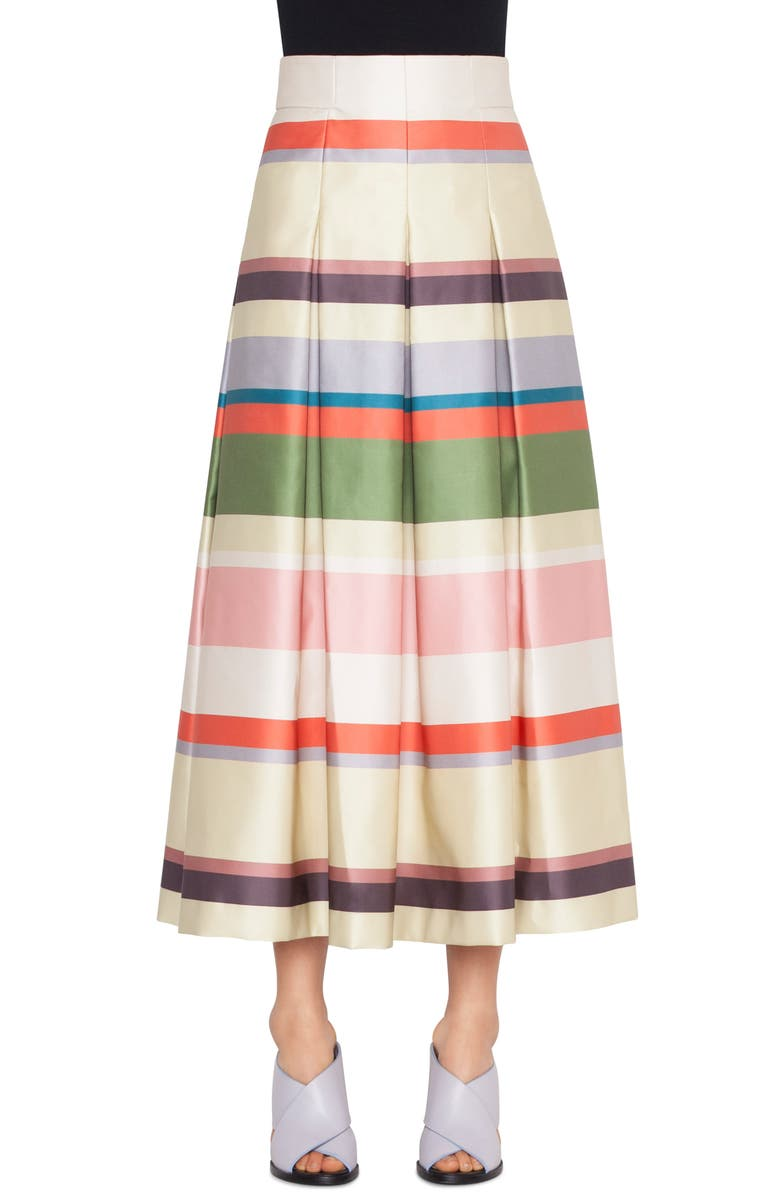 AKRIS PUNTO Memphis Glass Stripe Skirt, Main, color, 100
