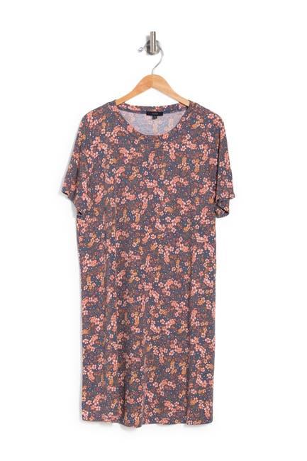 Image of ECLAIR Hacci Knit Floral Print Dress