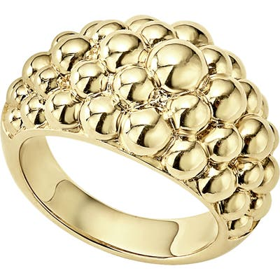 Lagos Caviar Gold Bold Dome Ring