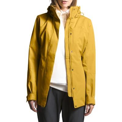 The North Face Westoak City Waterproof & Windproof Coat, Yellow