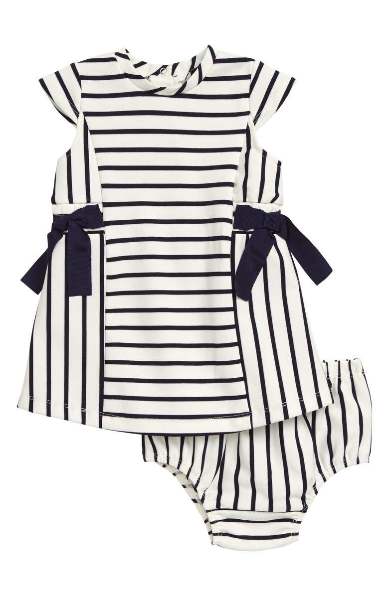 HABITUAL Stripe Bow Dress, Main, color, INDIGO