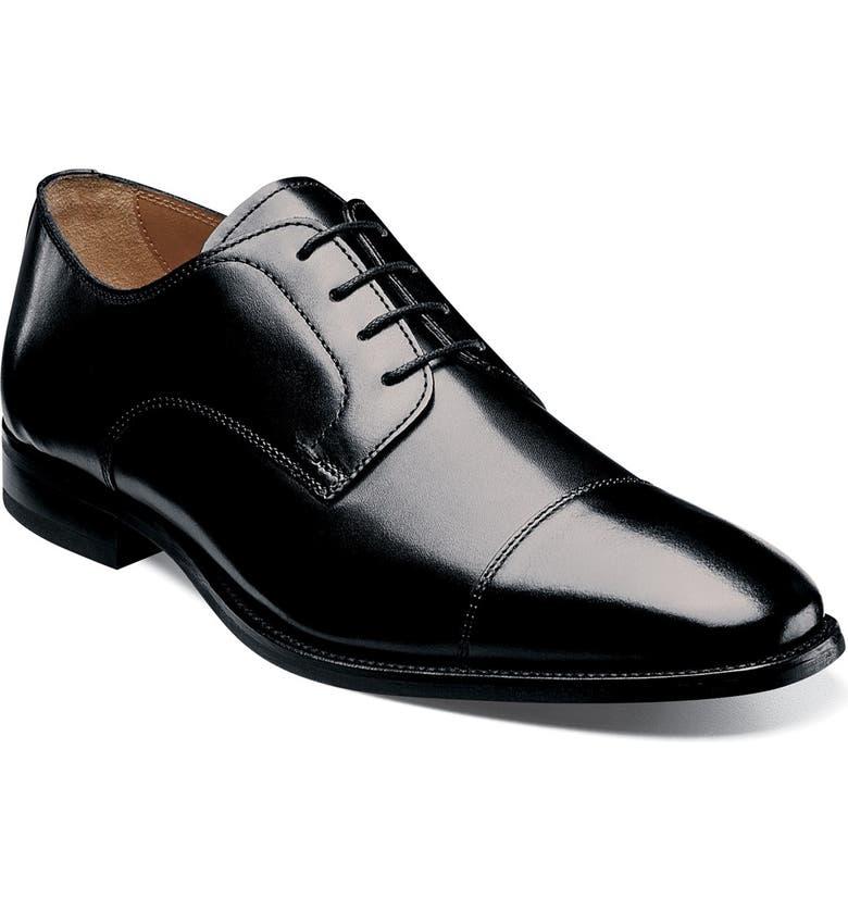 FLORSHEIM 'Sabato' Cap Toe Derby, Main, color, BLACK