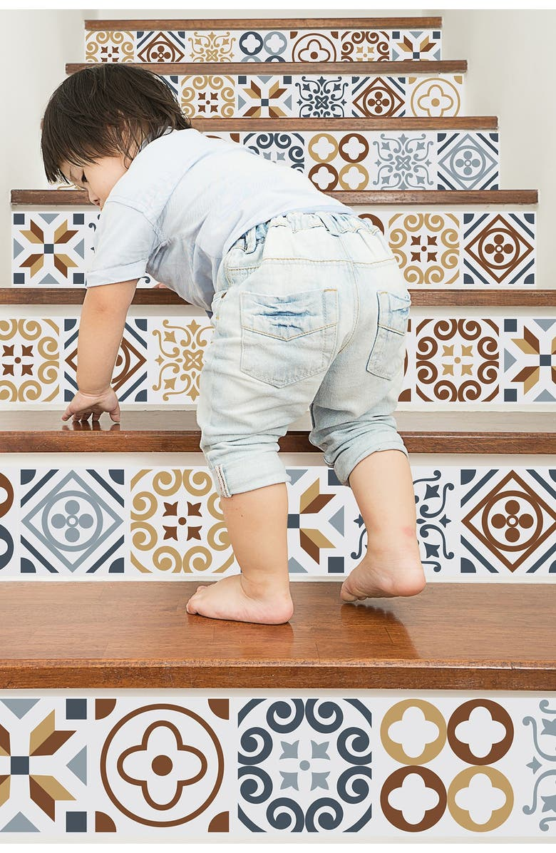 WALPLUS Multi Azulejo Wall Sticker Decal, Main, color, MULTI