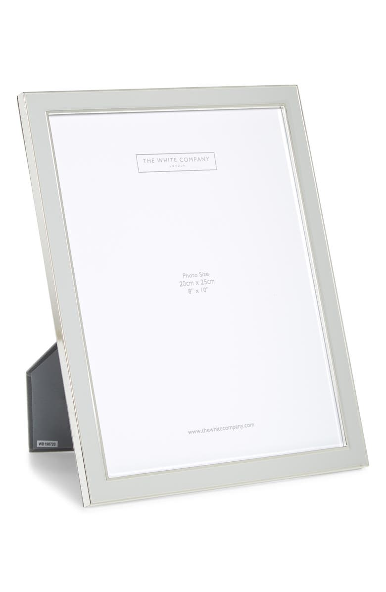 THE WHITE COMPANY Silver Plated Picture Frame, Main, color, GREY