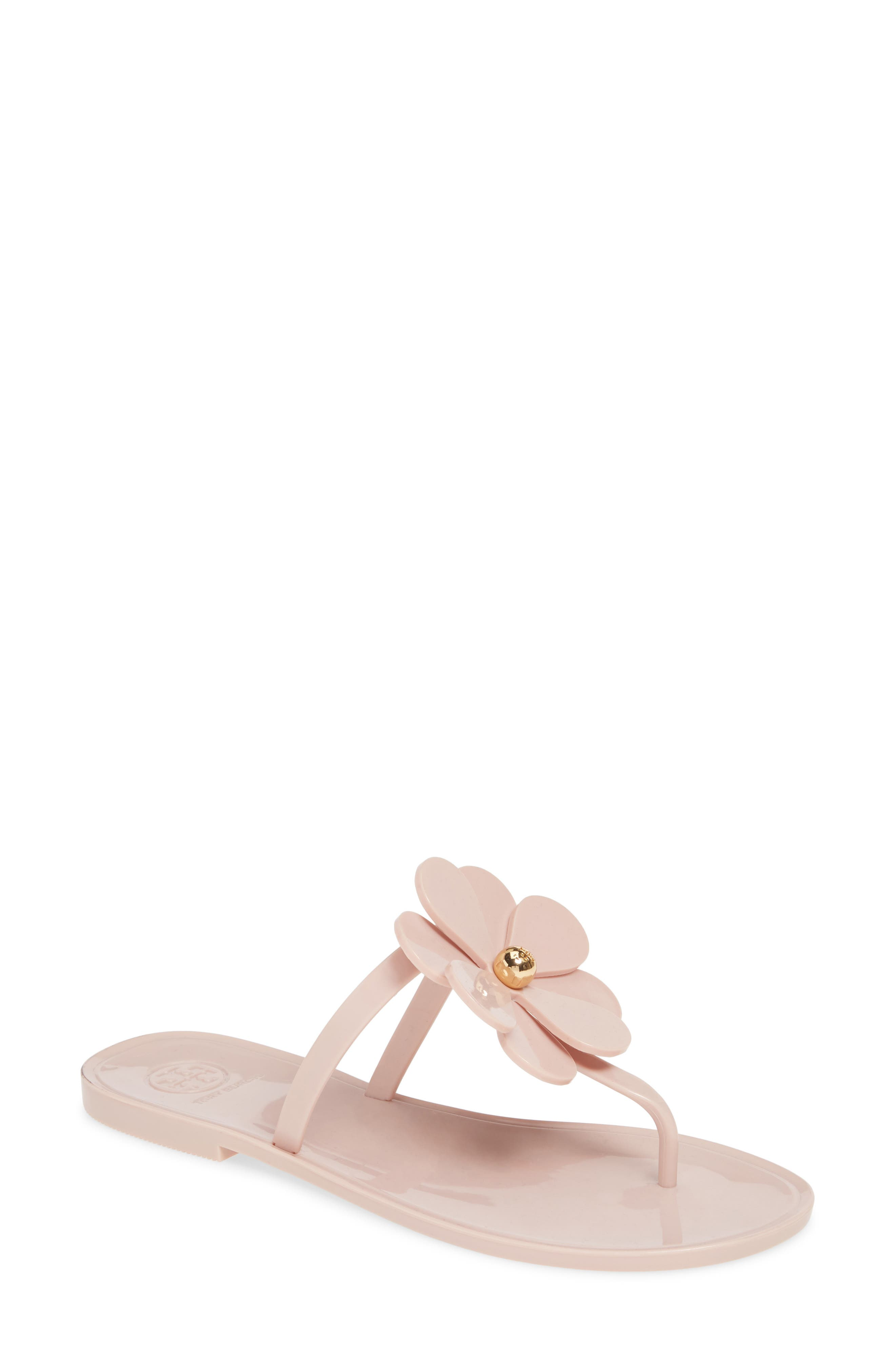 Tory Burch Floral Jelly Flip Flop, Pink