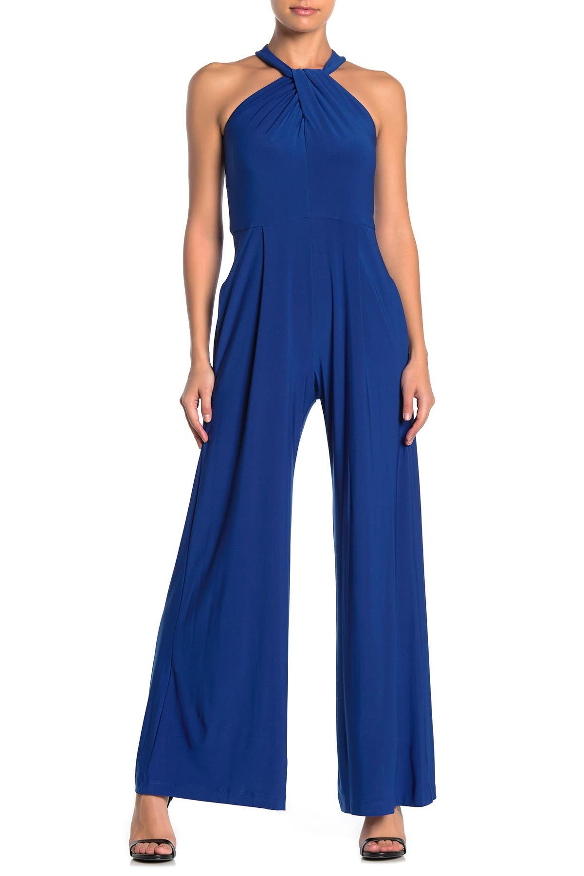 Image of Taylor Solid Jersey Twist Neck Jumpsuit