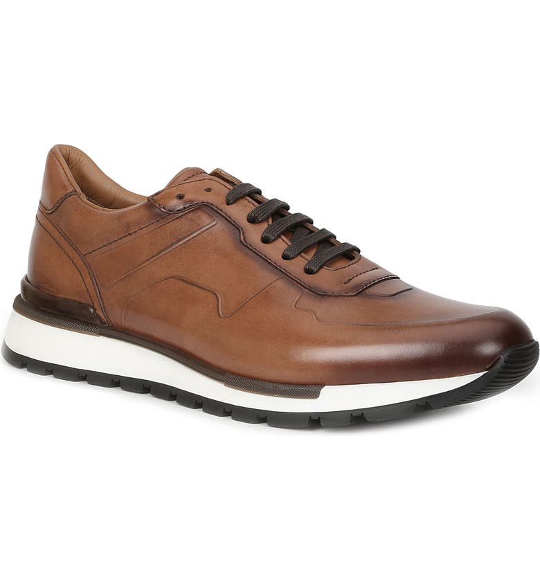 BRUNO MAGLI Davio Low Top Sneaker, Main, color, COGNAC