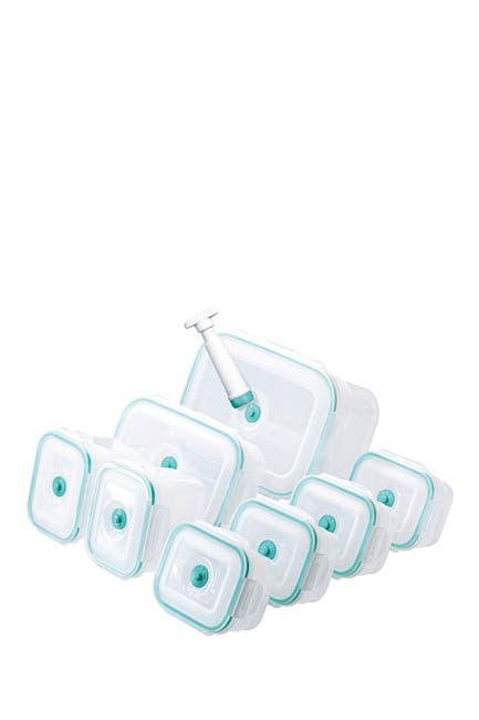Image of Honey-Can-Do Vac 'n Save Opaque/Teal 17-Piece Rectangular Set