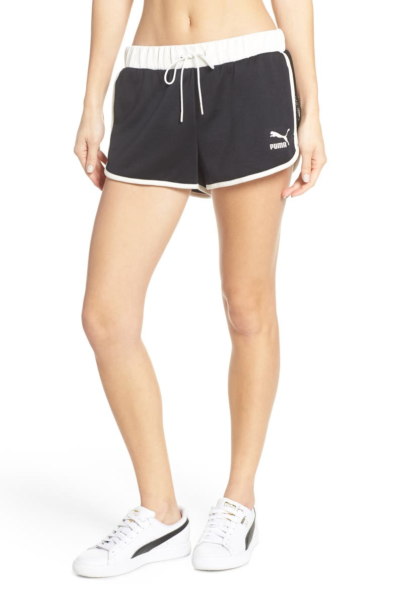 PUMA Flourish Shorts, Main, color, 001