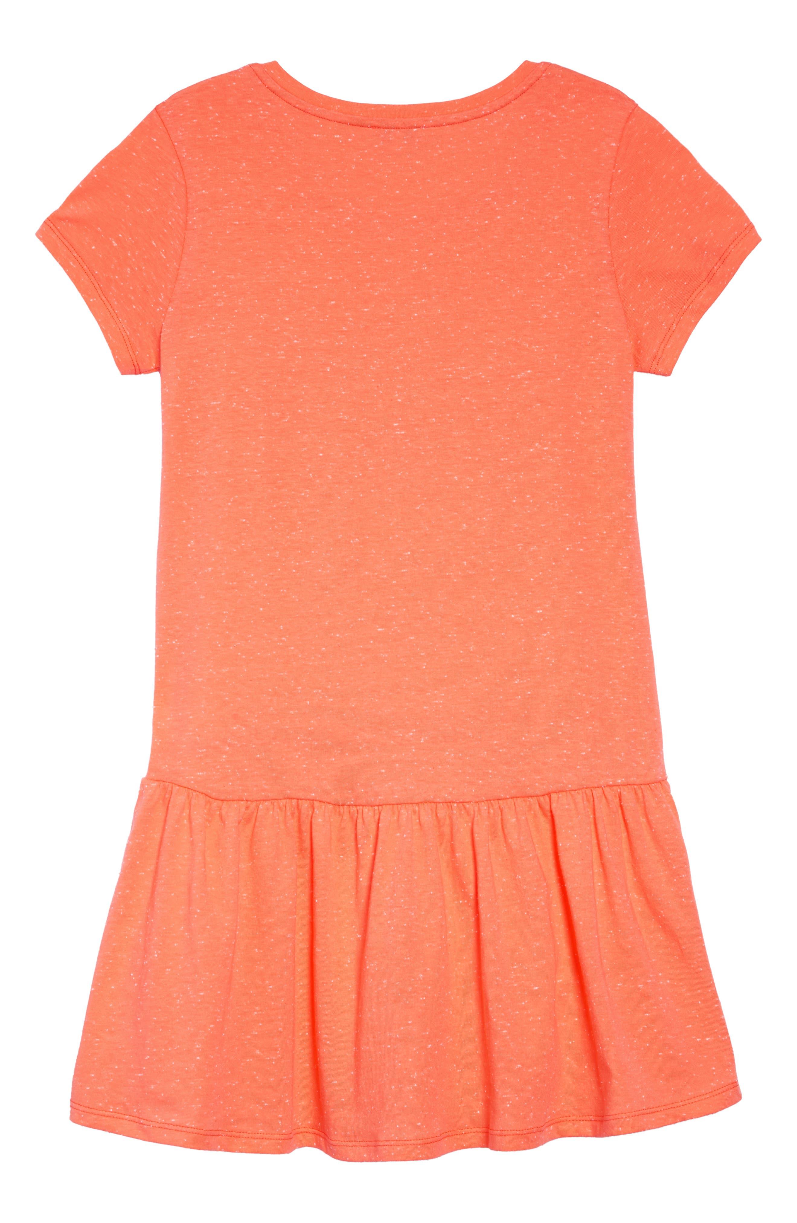 ,                             Tiger Graphic Drop Waist Dress,                             Alternate thumbnail 2, color,                             APRICOT