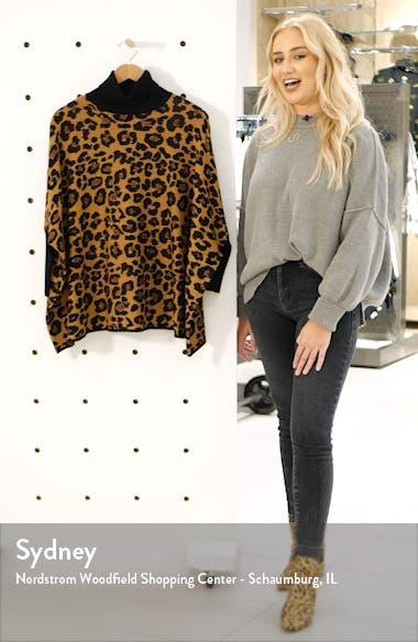 Lurex Dolman Sleeve Animal Print Turtleneck Sweater, sales video thumbnail