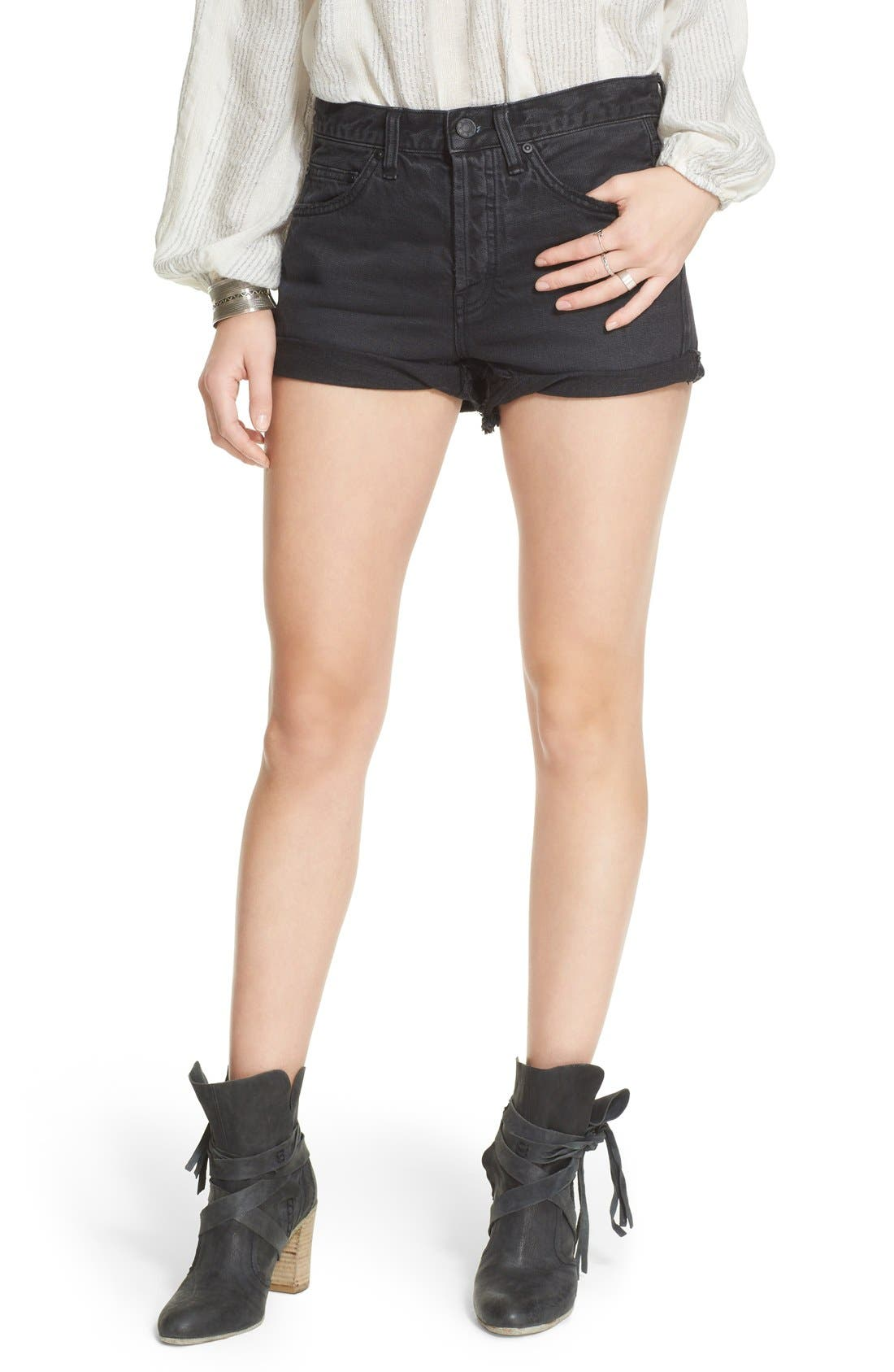 'Uptown' Denim Shorts, Main, color, 017