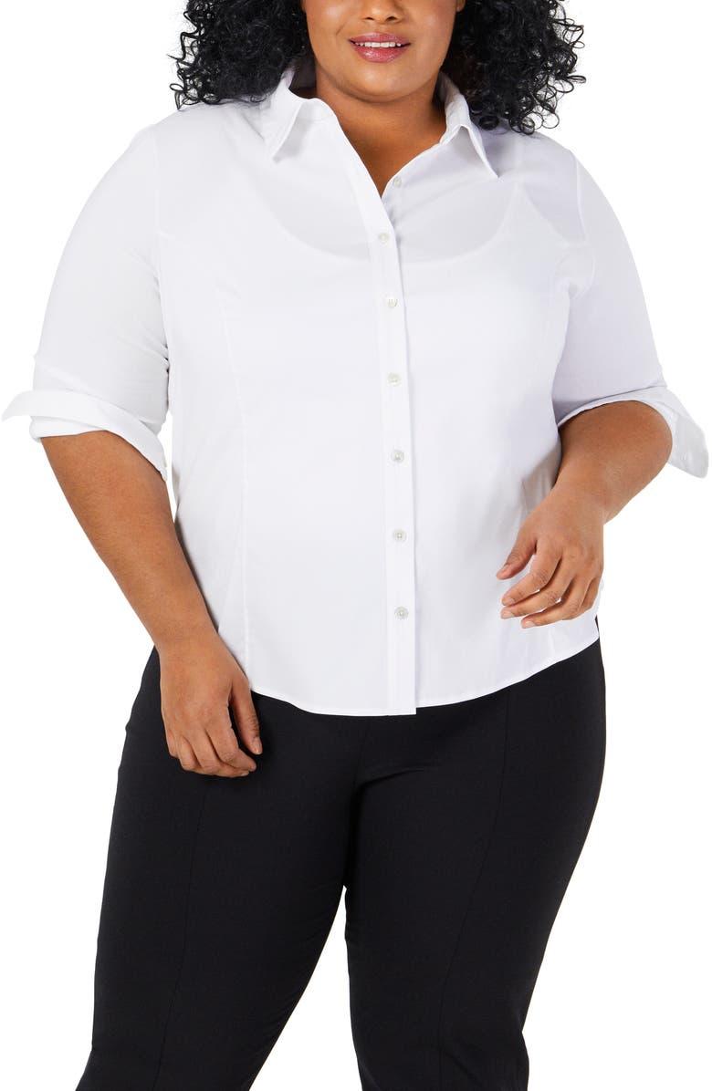 PARI PASSU Button-Front Shirt, Main, color, WHITE