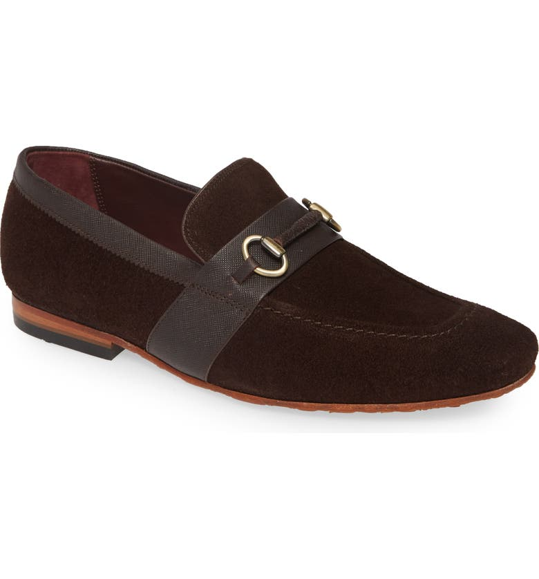 TED BAKER LONDON Daisers Bit Loafer, Main, color, BROWN SUEDE
