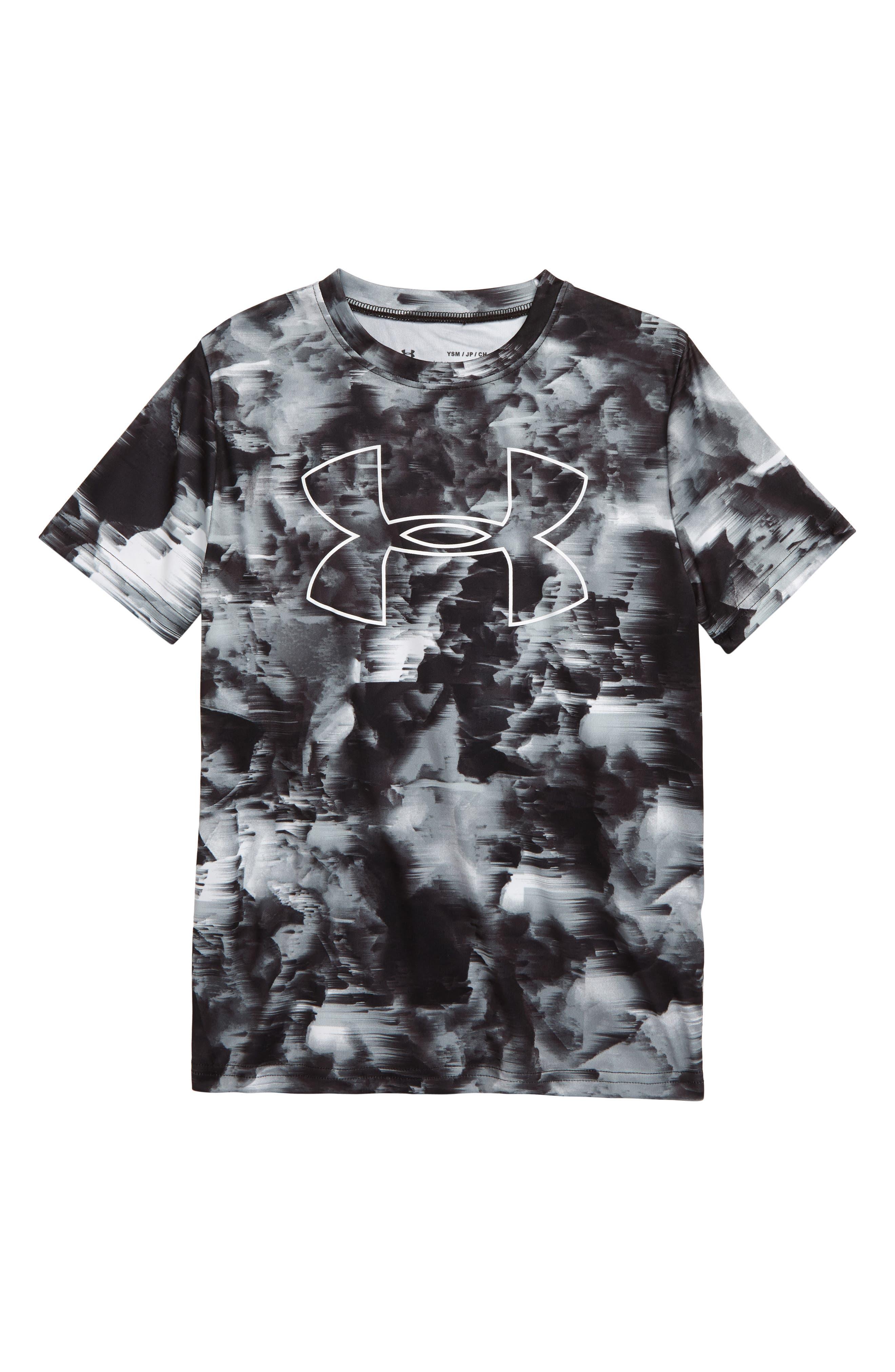 Under Armour Boys Printed Big Logo T-Shirt