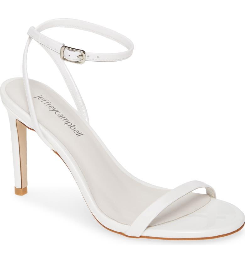 JEFFREY CAMPBELL Illusive Ankle Strap Sandal, Main, color, WHITE PATENT