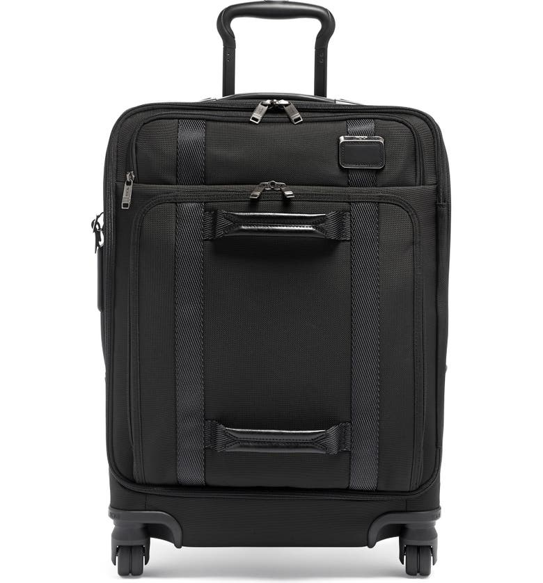 TUMI 22-Inch Front Lid Recycled Wheeled Dual Access Continental Carry-On Bag, Main, color, BLACK