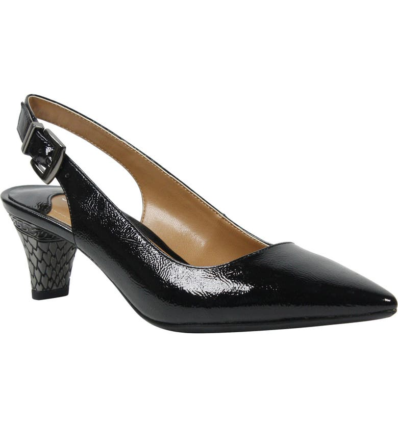 J. RENEÉ Mayetta Slingback Pump, Main, color, BLACK FAUX LEATHER