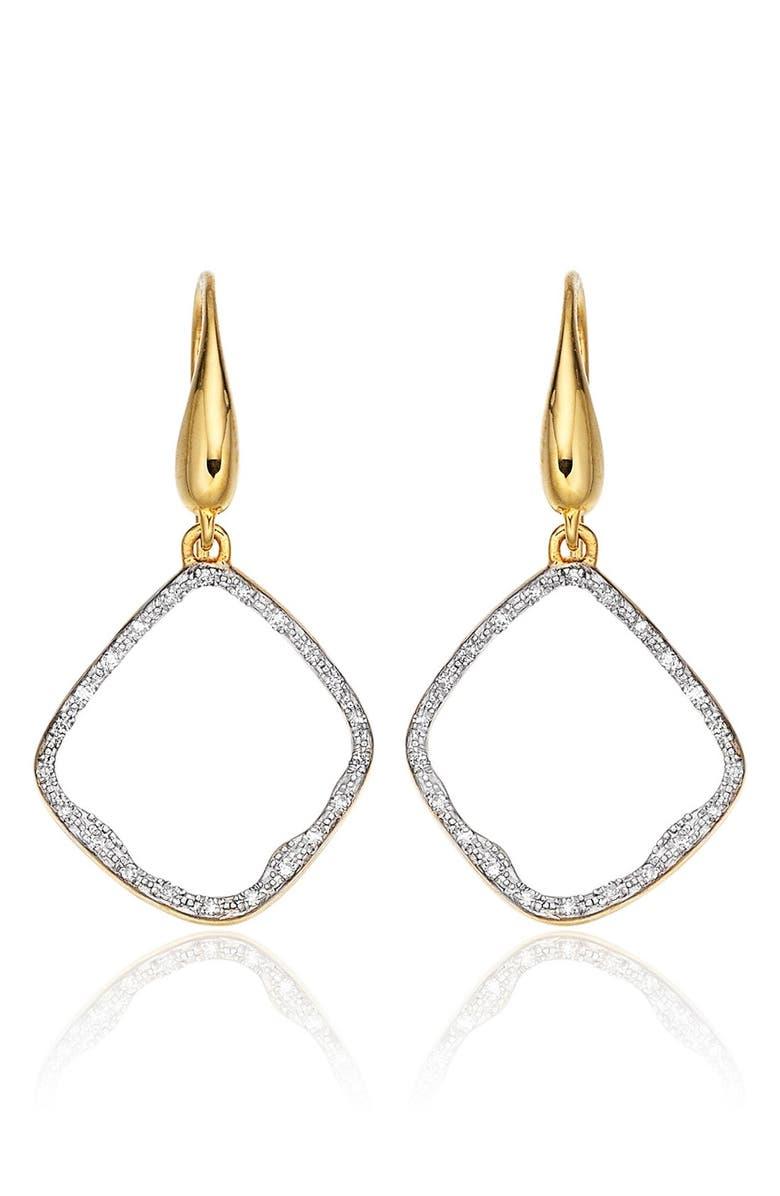 MONICA VINADER Riva Diamond Hoop Drop Earrings, Main, color, 710