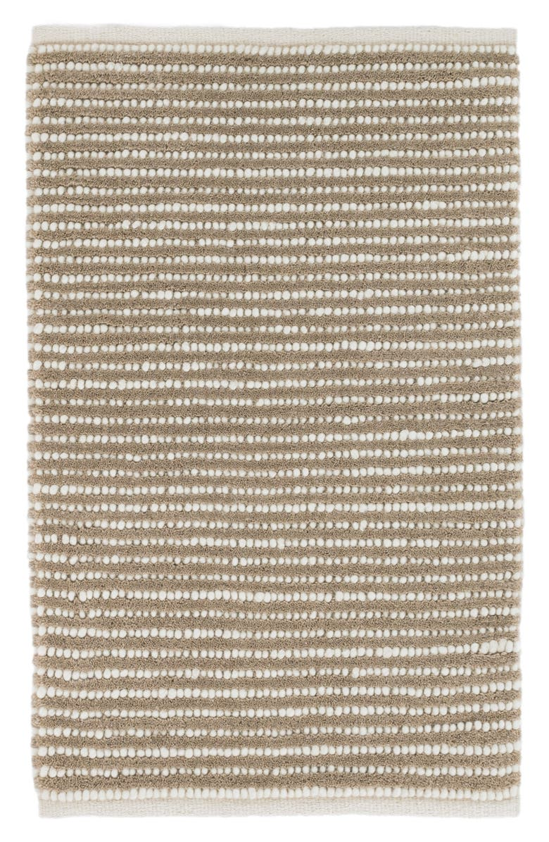 DASH & ALBERT Brushed Stripe Woven Wool Blend Rug, Main, color, MOCHA