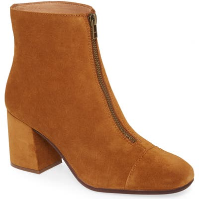 Madewell The Amalia Zip Suede Boot, Brown