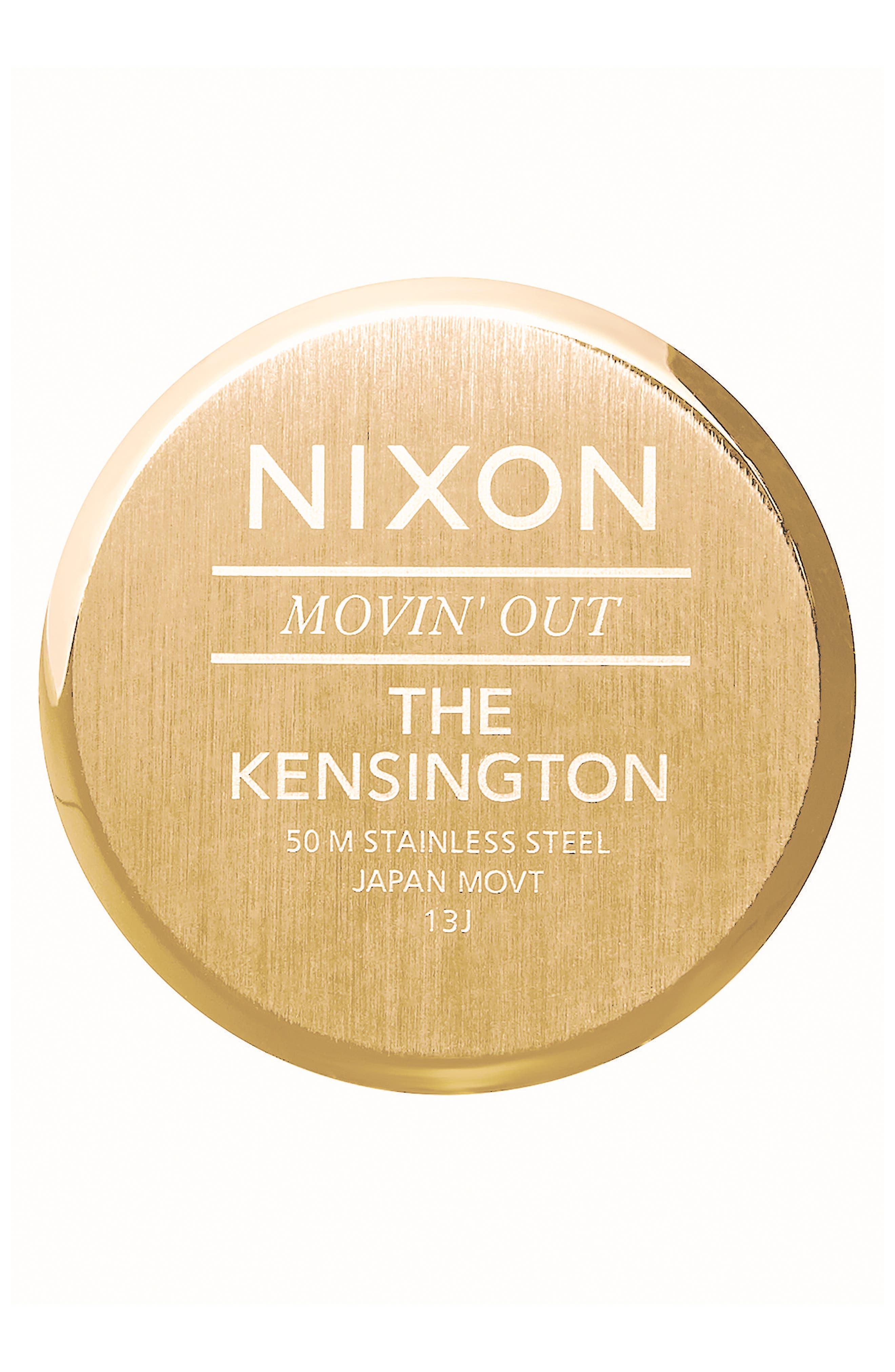 ,                             'The Kensington' Leather Strap Watch, 37mm,                             Alternate thumbnail 13, color,                             710