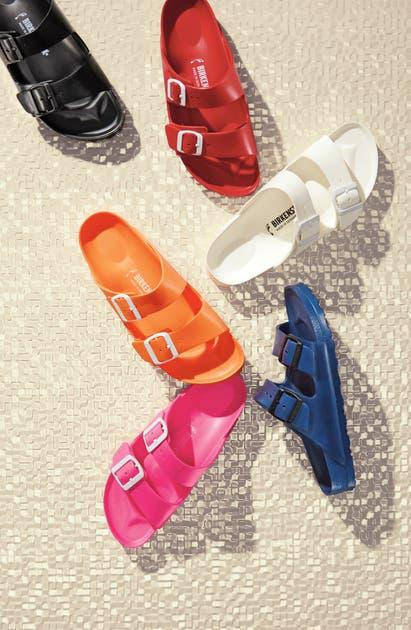 Birkenstock Essentials - Arizona Slide Sandal In Flame