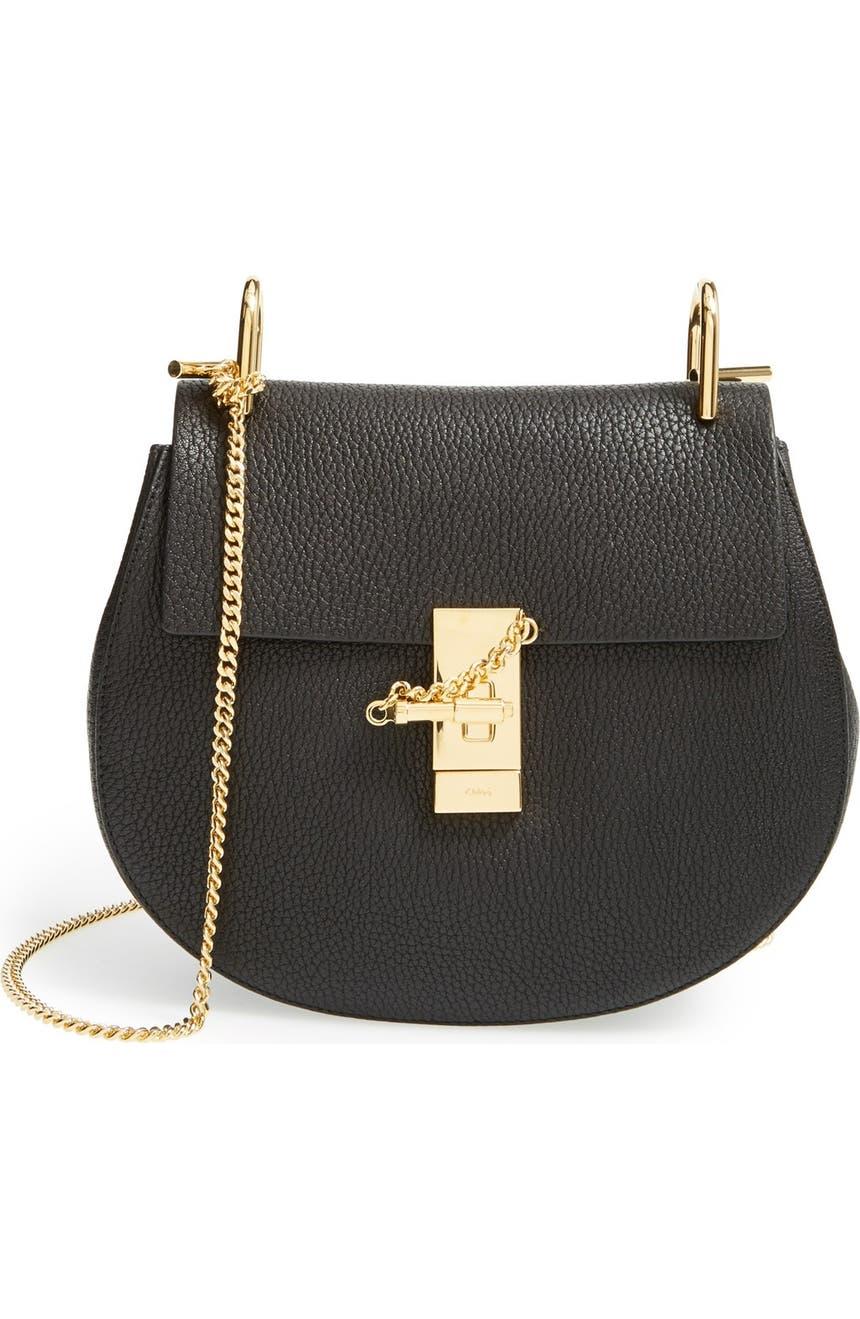 36cd8cf1fe5c4 Chloé Drew Leather Shoulder Bag   Nordstrom