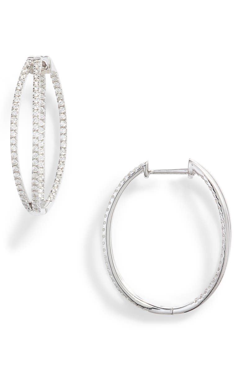BONY LEVY Gatsby Double Row Diamond Inside-Out Hoop Earrings, Main, color, 711