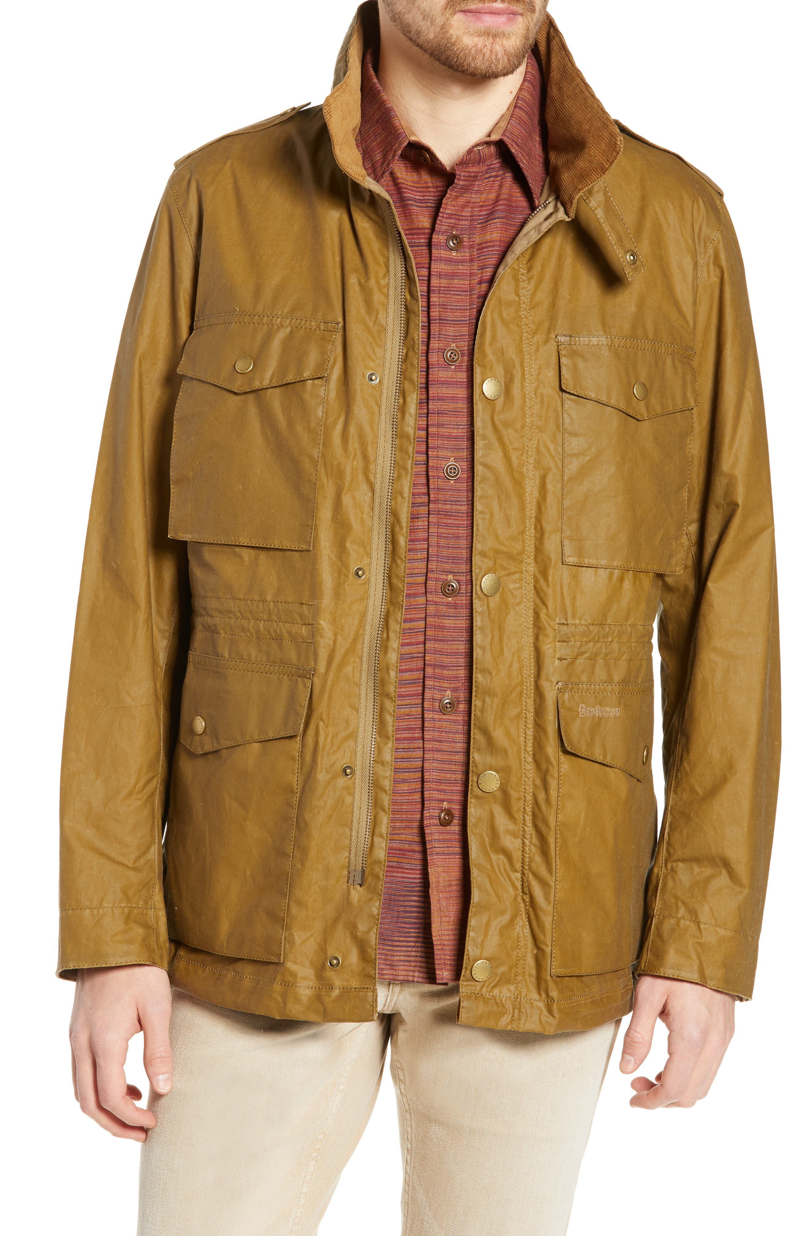 Barbour Orel Water Resistant Waxed Cotton Jacket, Brown