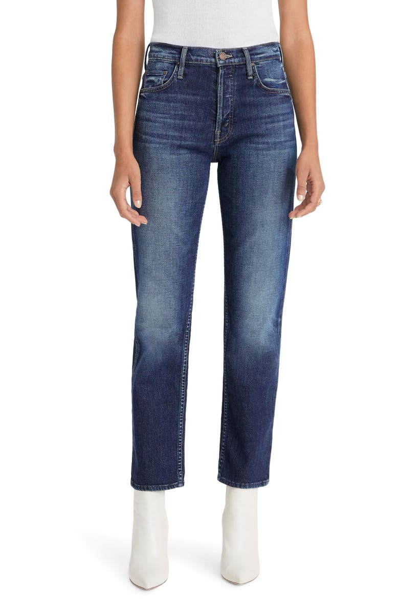 MOTHER The Tomcat High Waist Ankle Straight Leg Jeans, Main, color, ROASTING NUTS