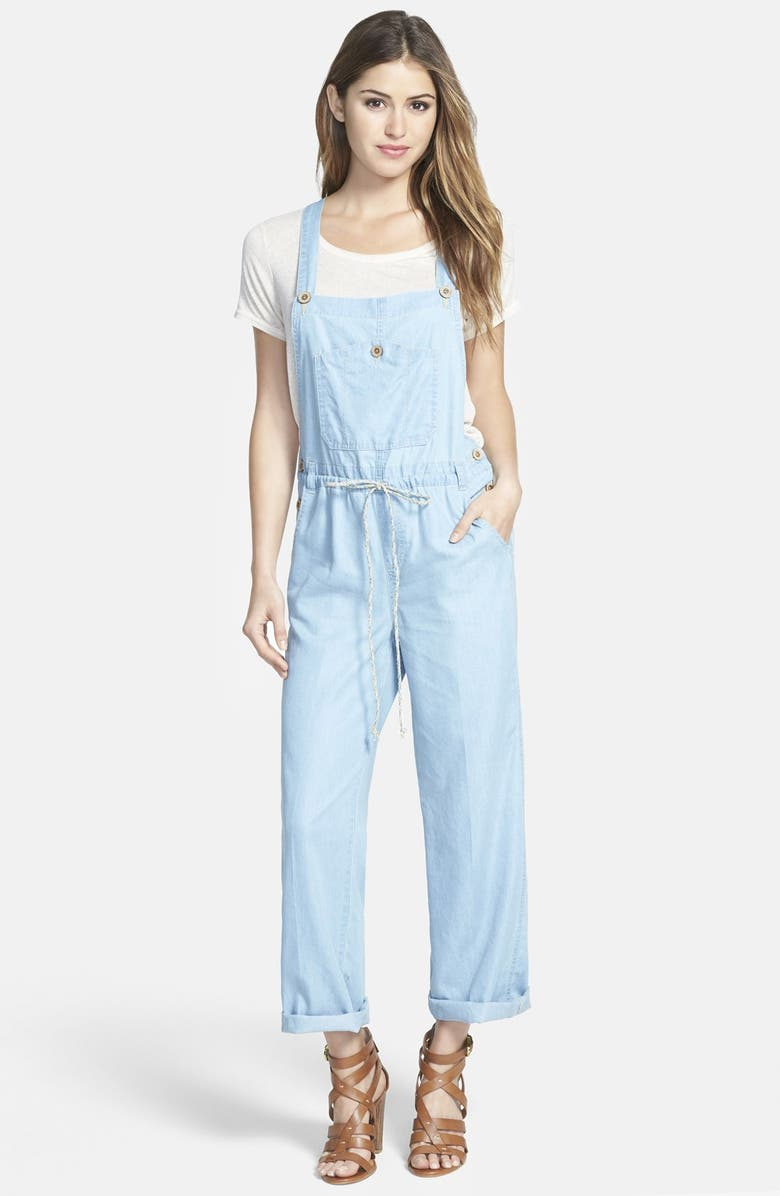 WIT & WISDOM Chambray Overalls, Main, color, 454