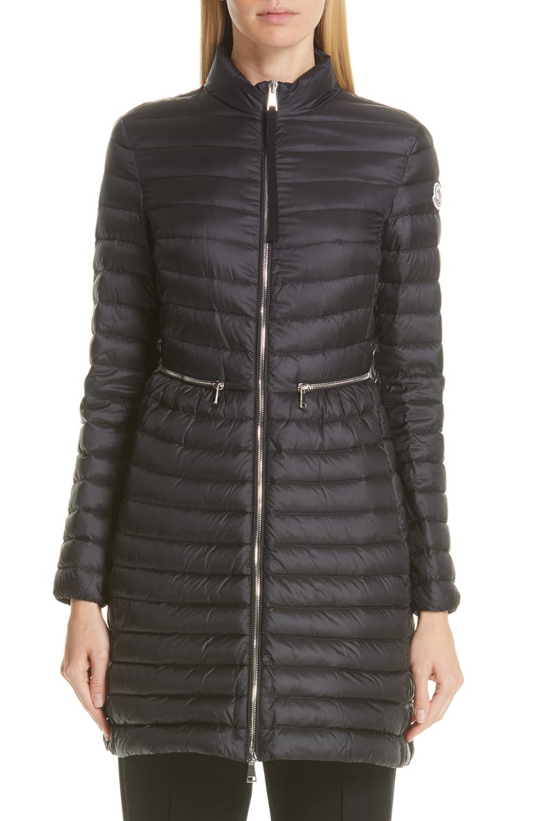 MONCLER Agatelon Lightweight Down Quilted Jacket, Main, color, BLACK