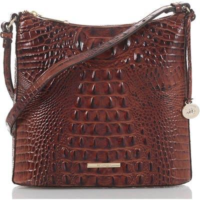 Brahmin Katie Croc Embossed Leather Crossbody Bag -