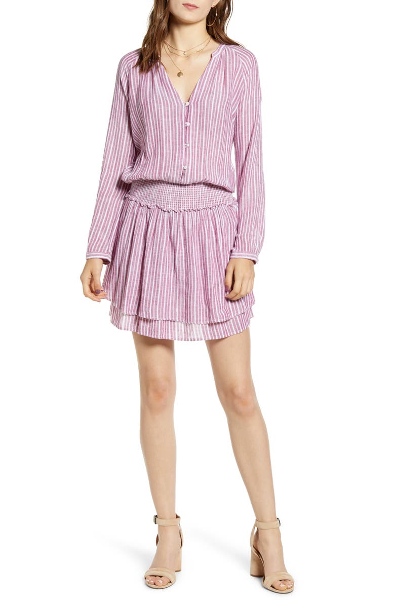 RAILS Jasmine Long Sleeve Dress, Main, color, LUCIA STRIPE