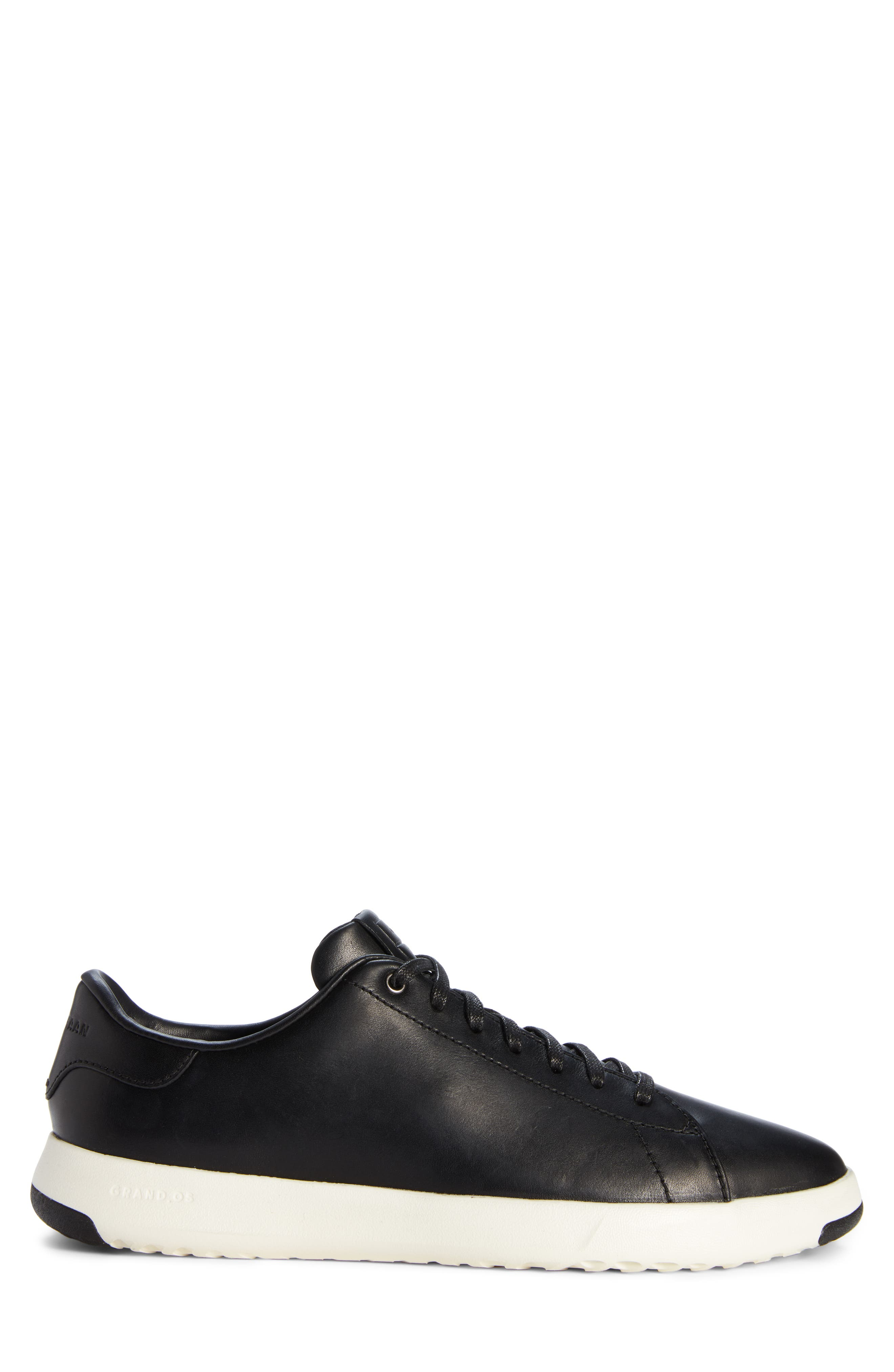 ,                             GrandPro Tennis Sneaker,                             Alternate thumbnail 3, color,                             BLACK LEATHER