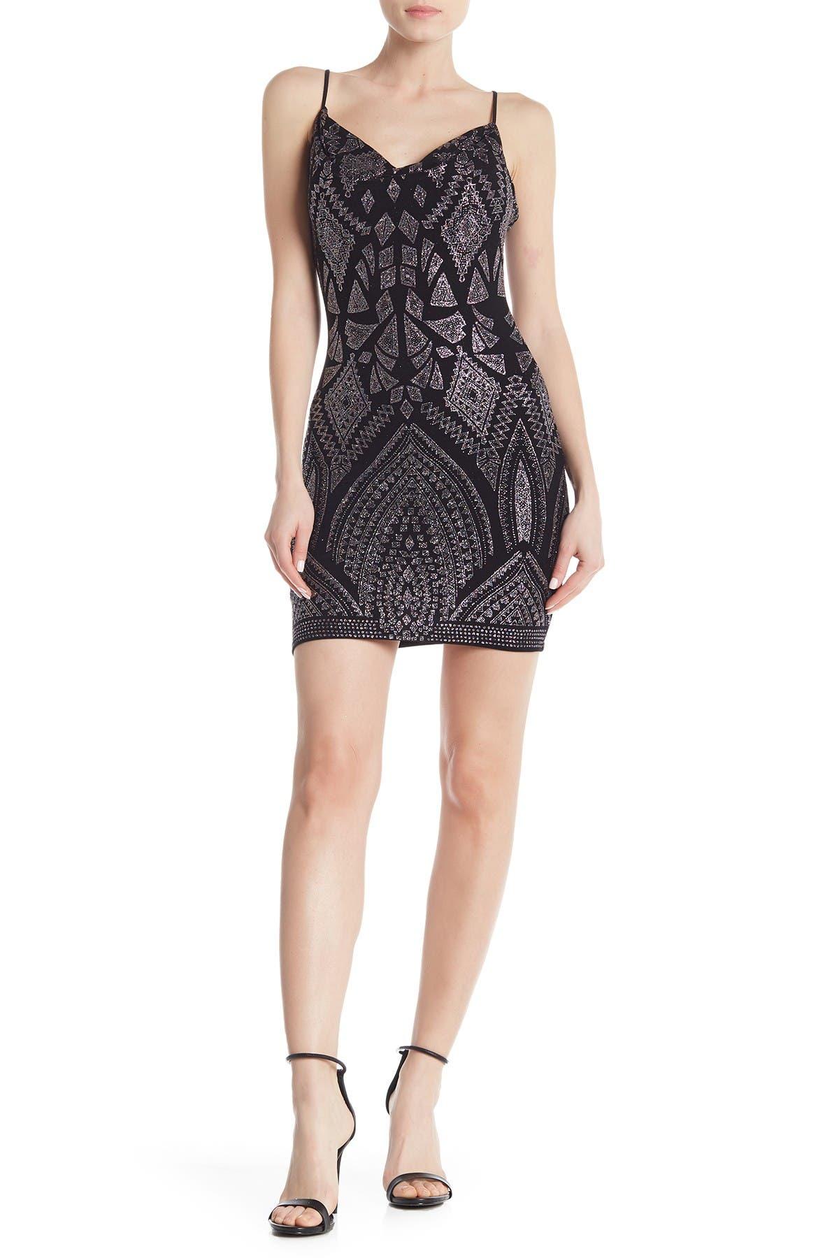 Image of JUMP Cowl Neck Glitter Slinky Slip Dress